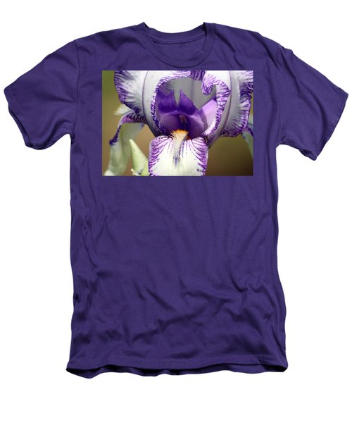 Men's T-Shirt (Slim Fit) featuring the photograph Iris Close-up by Sheila Brown
