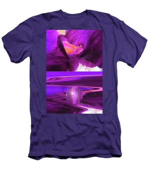 Before And After - Iris Macro And Manipulated Iris Macro Men's T-Shirt (Athletic Fit)
