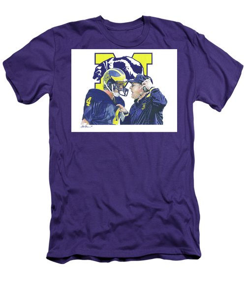 Jim Harbaugh And Bo Schembechler Men's T-Shirt (Slim Fit)