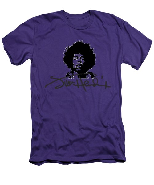 Jimi Hendrix Purple Haze Men's T-Shirt (Slim Fit) by David Dehner