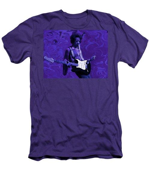 Jimi Hendrix Purple Haze Men's T-Shirt (Athletic Fit)