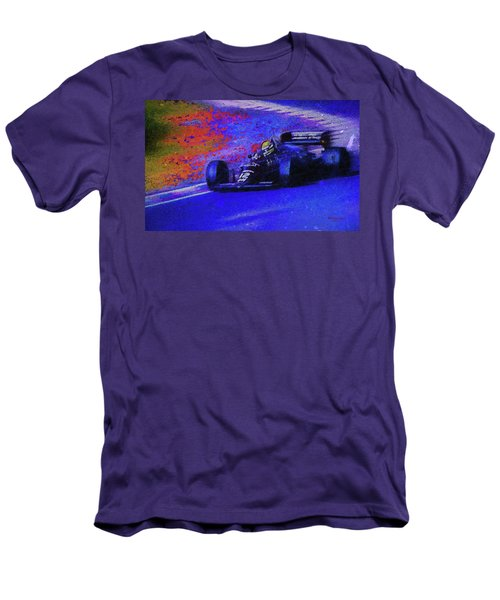 Men's T-Shirt (Slim Fit) featuring the mixed media John Player Special by Marvin Spates