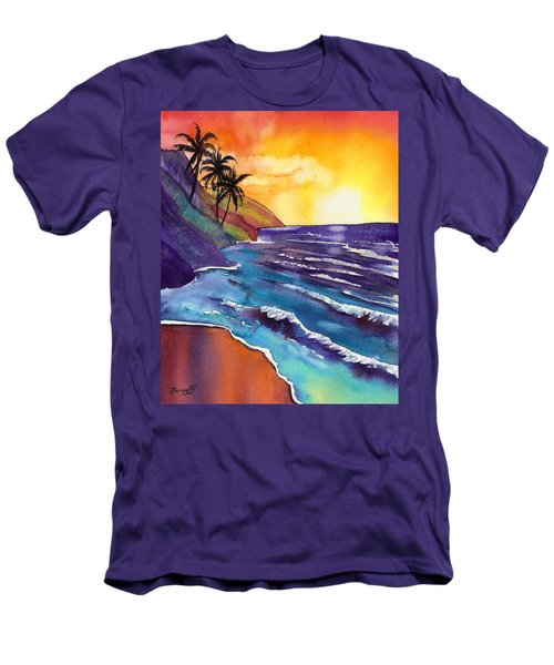 Kauai Na Pali Sunset Men's T-Shirt (Slim Fit) by Marionette Taboniar