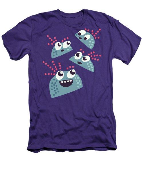 Kawaii Cute Candy Friends Men's T-Shirt (Slim Fit)