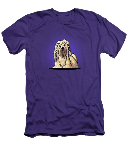 Kiniart Lhasa Apso Braided Men's T-Shirt (Athletic Fit)