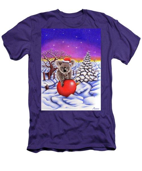 Koala On Christmas Ball Men's T-Shirt (Slim Fit) by Remrov