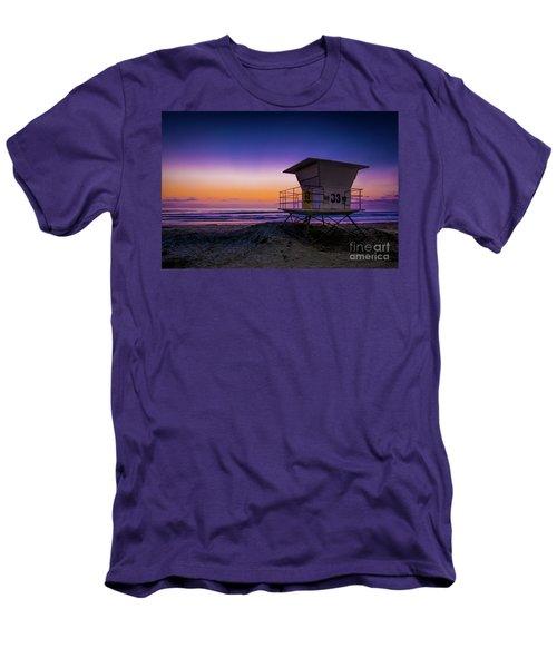 La Jolla Beach Sunset Men's T-Shirt (Athletic Fit)
