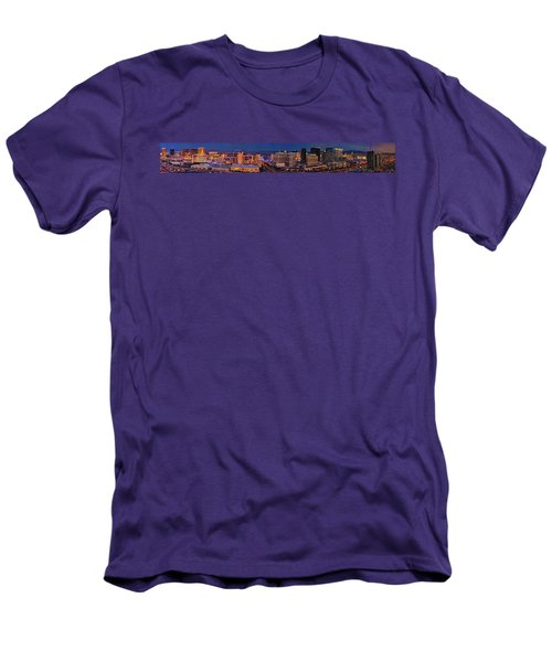 Men's T-Shirt (Slim Fit) featuring the photograph Las Vegas Panoramic Aerial View by Susan Candelario