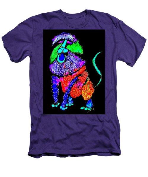 Leo, Rampant -- Negative Version Men's T-Shirt (Athletic Fit)