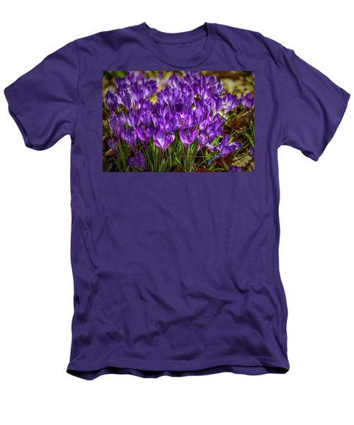 Lilac Crocus #g2 Men's T-Shirt (Slim Fit) by Leif Sohlman
