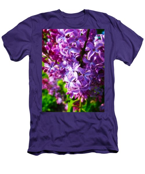 Lilac In The Sun Men's T-Shirt (Slim Fit) by Julia Wilcox