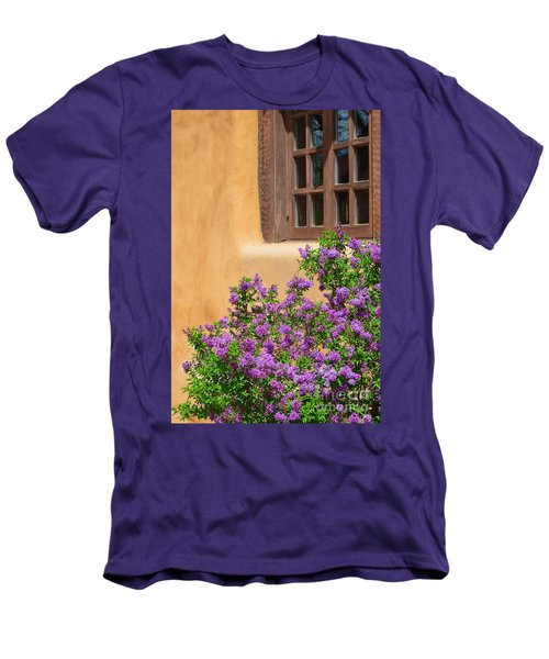 Lilacs And Adobe Men's T-Shirt (Slim Fit) by Catherine Sherman
