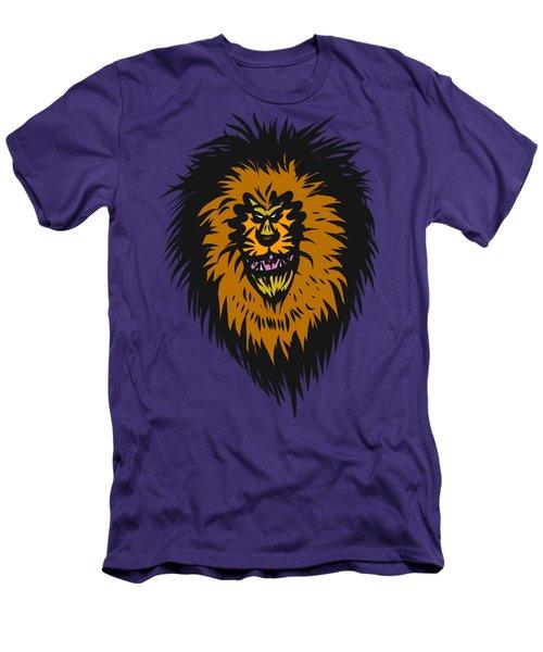Lion Roar Purple Men's T-Shirt (Athletic Fit)