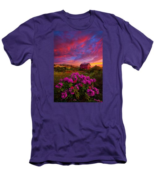Live In The Moment Men's T-Shirt (Slim Fit) by Phil Koch
