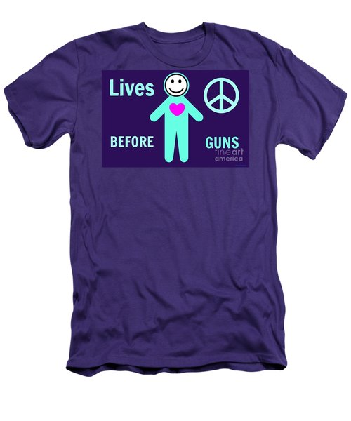 Lives Before Guns Men's T-Shirt (Athletic Fit)