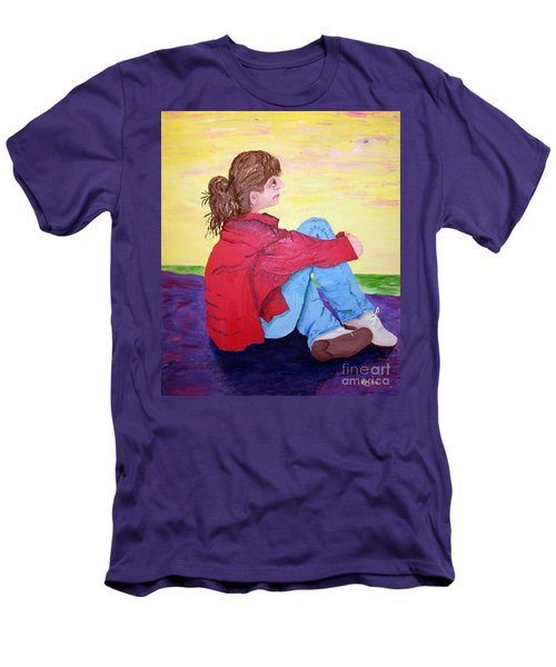 Looking For Hope Men's T-Shirt (Slim Fit) by Lisa Rose Musselwhite