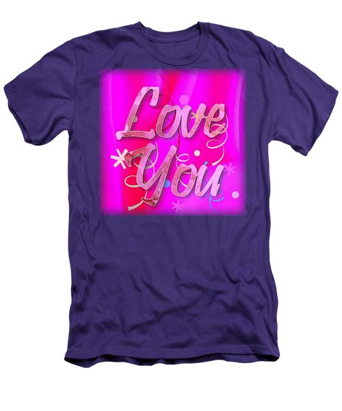 Love You Pink Cushion Men's T-Shirt (Athletic Fit)