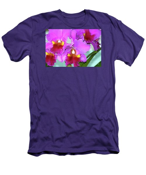Men's T-Shirt (Slim Fit) featuring the photograph Many Purple Orchids by Lehua Pekelo-Stearns