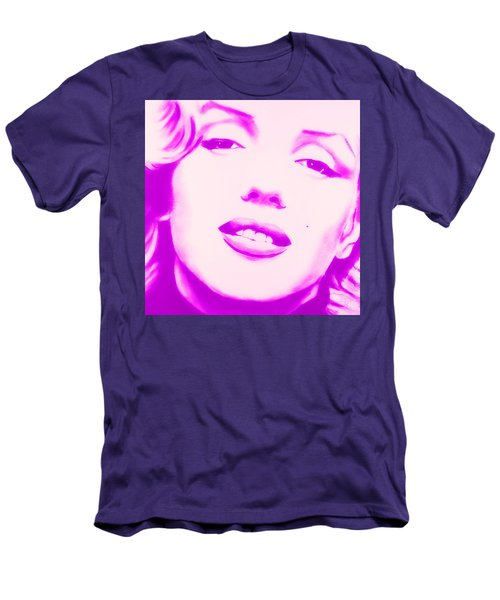 Marilyn Monroe, Purple And Pink Men's T-Shirt (Athletic Fit)
