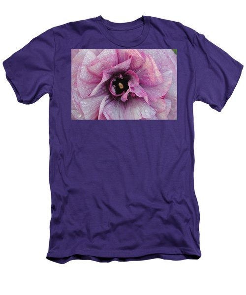 Men's T-Shirt (Slim Fit) featuring the photograph Mauve Beauty by Tamara Bettencourt