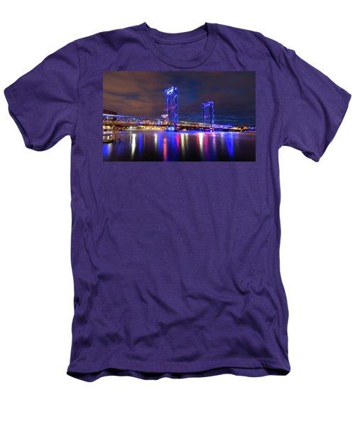Memorial Bridge Men's T-Shirt (Slim Fit) by Robert Clifford