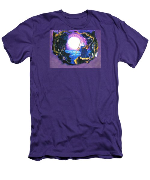 Men's T-Shirt (Slim Fit) featuring the painting Merlin's Moon by Seth Weaver