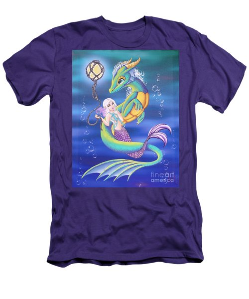 Mermaid And Sea Dragon Men's T-Shirt (Athletic Fit)