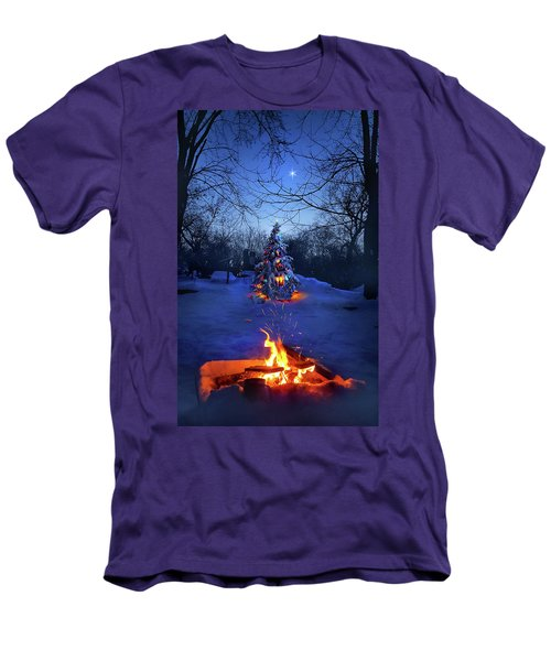 Men's T-Shirt (Slim Fit) featuring the photograph Merry Christmas by Phil Koch