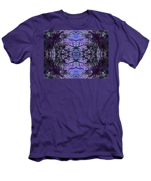 Mesmerized By Blue Men's T-Shirt (Slim Fit) by Joy Nichols