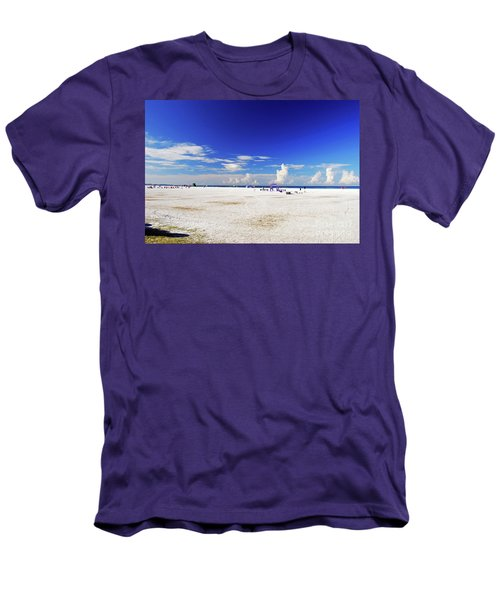 Men's T-Shirt (Athletic Fit) featuring the photograph Miles And Miles Of White Sand by Gary Wonning