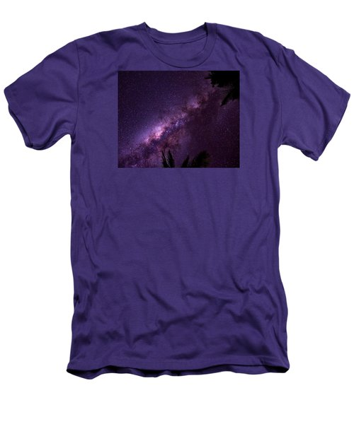 Men's T-Shirt (Slim Fit) featuring the photograph Milky Way Over Mission Beach by Avian Resources
