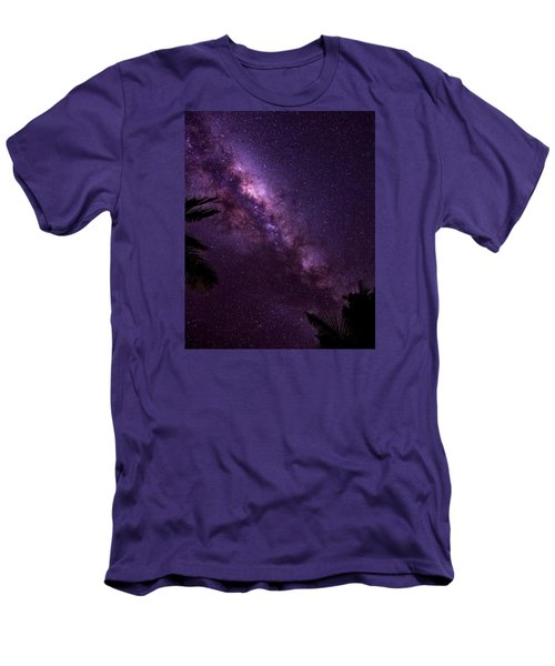 Men's T-Shirt (Slim Fit) featuring the photograph Milky Way Over Mission Beach Vertical by Avian Resources