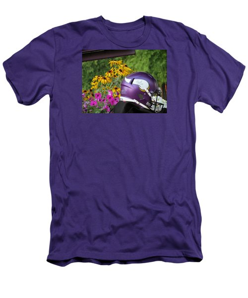 Minnesota Vikings Helmet Men's T-Shirt (Slim Fit) by Kyle West