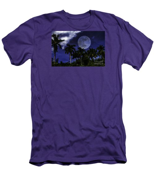 Moon Over Belize Men's T-Shirt (Slim Fit) by Ken Frischkorn