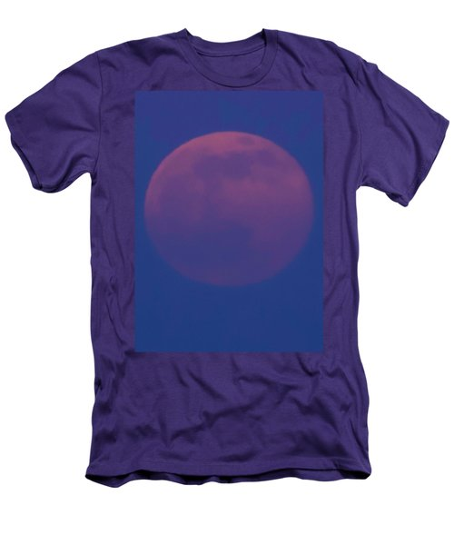 Moon Rise Blue Men's T-Shirt (Slim Fit) by Michael Nowotny