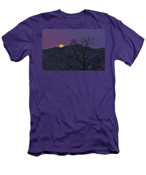 Moon Set At Sunrise Men's T-Shirt (Slim Fit)
