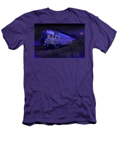 Moonlight On The Sante Fe Chief Men's T-Shirt (Slim Fit) by J Griff Griffin
