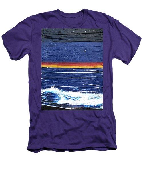 Moonlit Seascape Men's T-Shirt (Athletic Fit)
