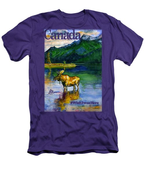 Moose In Canada Shirt Men's T-Shirt (Athletic Fit)