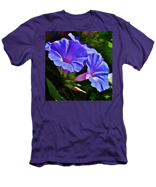 Morning Glory Flower Men's T-Shirt (Athletic Fit)