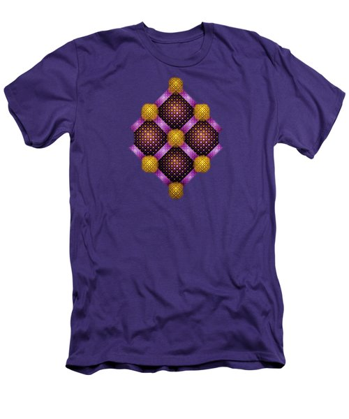 Mosaic - Purple And Yellow Men's T-Shirt (Athletic Fit)