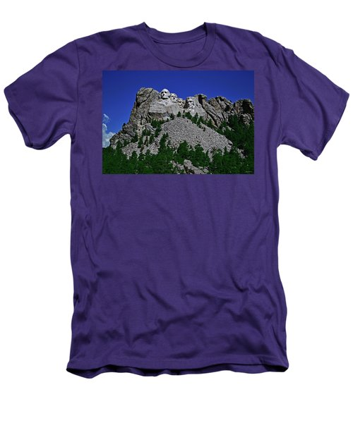 Men's T-Shirt (Slim Fit) featuring the photograph Mount Rushmore 001 by George Bostian