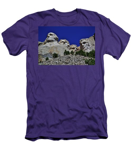 Men's T-Shirt (Slim Fit) featuring the photograph Mount Rushmore 007 by George Bostian