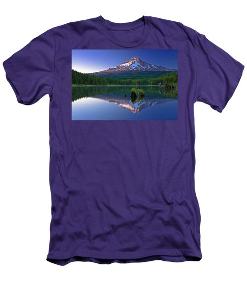 Men's T-Shirt (Slim Fit) featuring the photograph Mt. Hood Reflection At Sunset by William Lee