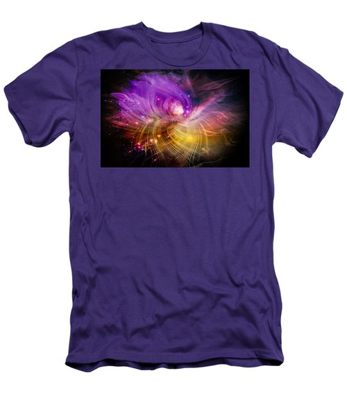 Men's T-Shirt (Slim Fit) featuring the digital art Music From Heaven by Carolyn Marshall