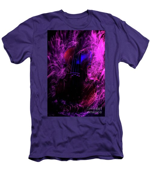 Music Light Painting  Men's T-Shirt (Athletic Fit)
