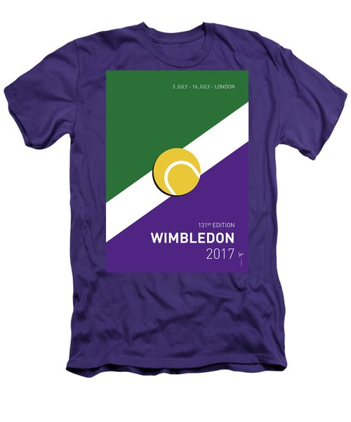 Men's T-Shirt (Slim Fit) featuring the digital art My Grand Slam 03 Wimbeldon Open 2017 Minimal Poster by Chungkong Art