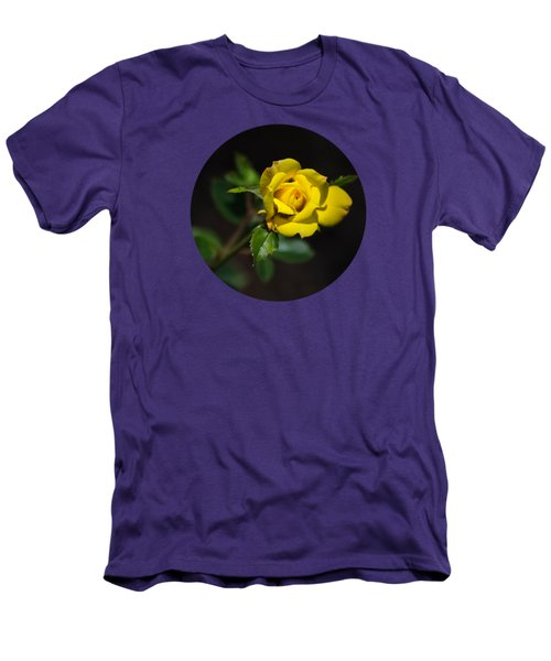Men's T-Shirt (Athletic Fit) featuring the photograph Mystic Yellow Rose by Christina Rollo