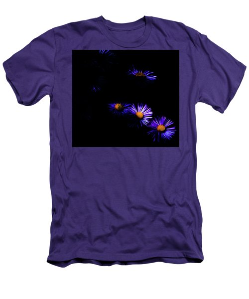Men's T-Shirt (Slim Fit) featuring the digital art Natural Fireworks by Timothy Hack