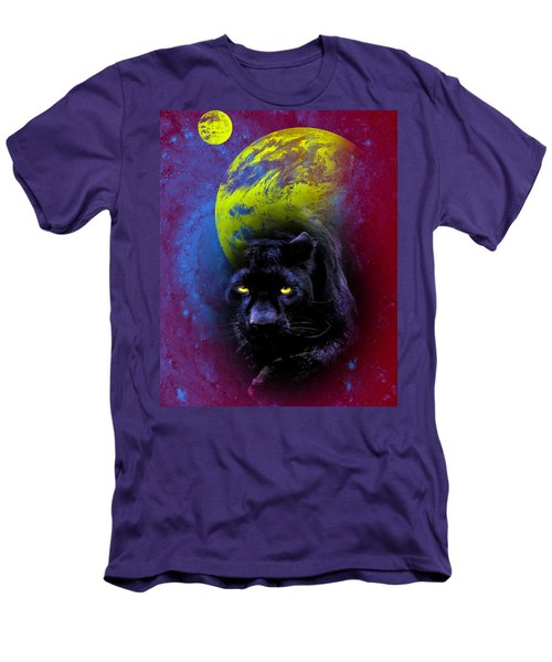 Nebula's Panther Men's T-Shirt (Slim Fit) by Swank Photography